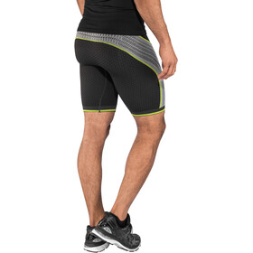 UYN Running Alpha OW Pants Shorts Herr charcoal/pearl grey/yellow